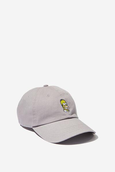 Strap Back Dad Hat, LC FOX GREY/HOMER