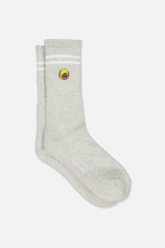 Single Pack Active Socks, LC WB GREY MARLE/BLACK SPEEDY GONZALES