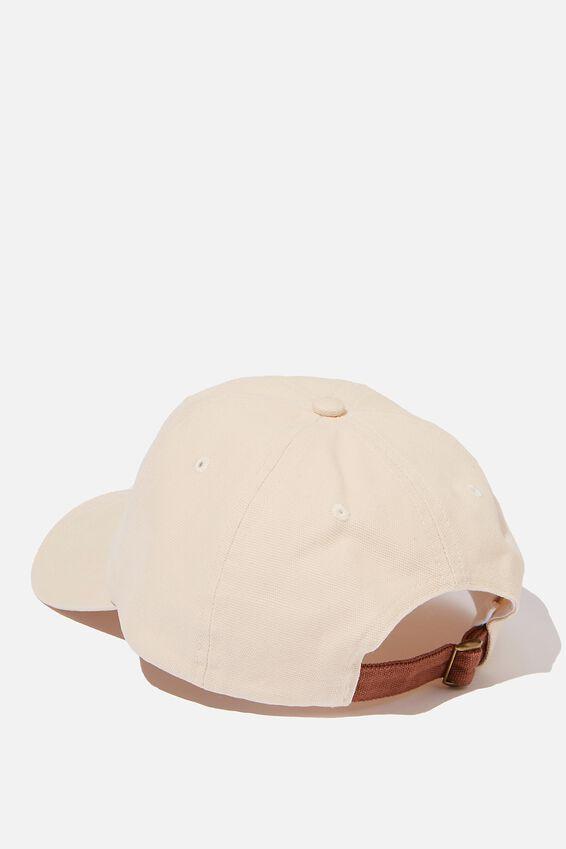 Strap Back Dad Hat, SAND/BROWN/NY