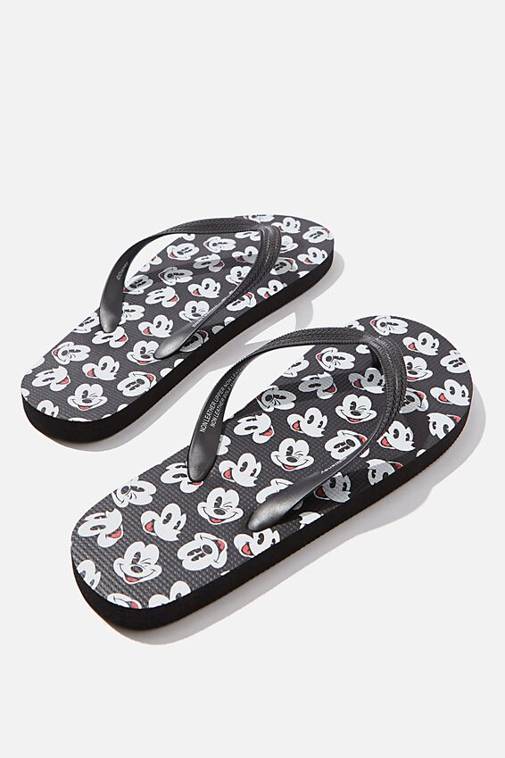 Bondi Flip Flop, LCN DIS BLACK/MICKEY FACES