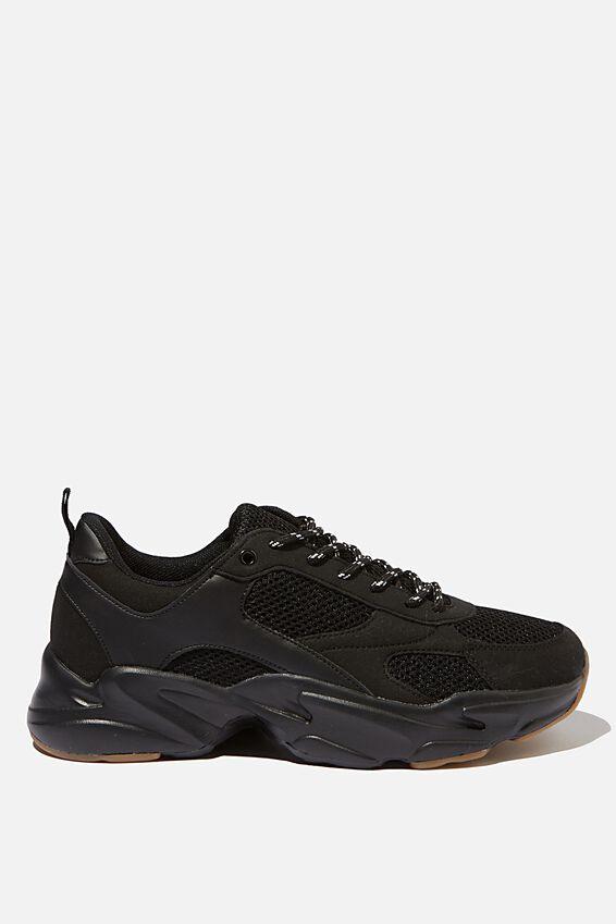 Joel Chunky Sneaker, BLACK/GUM