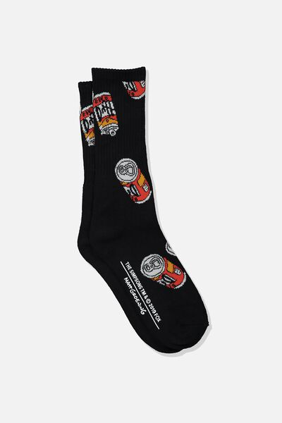 Single Pack Active Socks, LC FOX BLACK/DUFF CAN