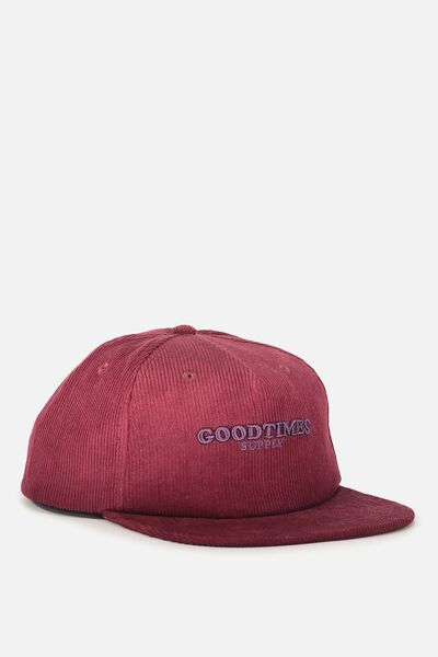 Art Snapback, RED WINE/GOODTIMES SUPPLY