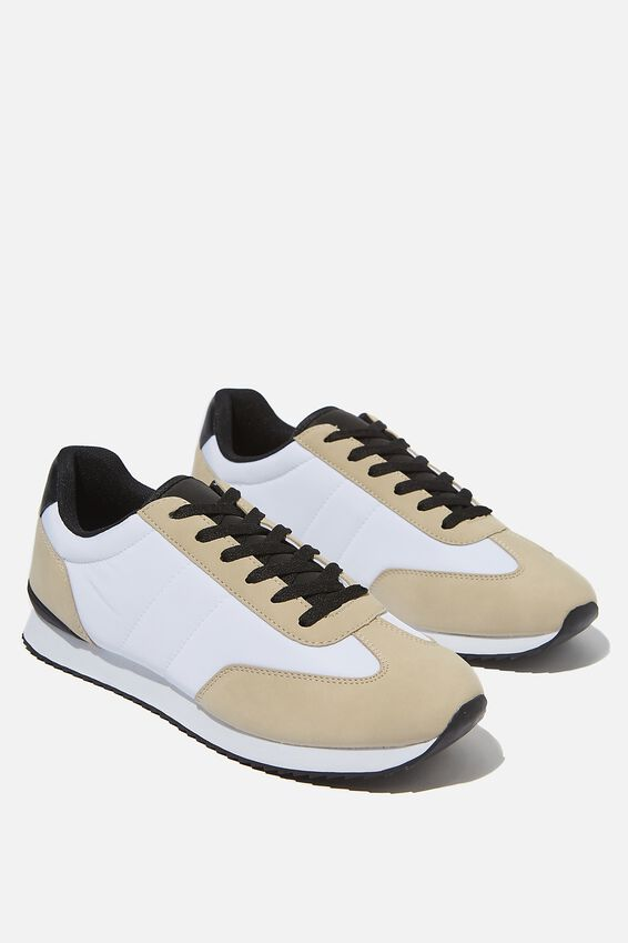 Ryan Retro Trainer, OFF WHITE/SAND/BLACK