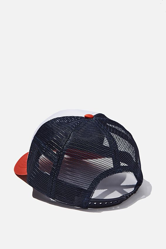 Wicked Print Trucker, OFF WHITE/BURNT RED/NAVY