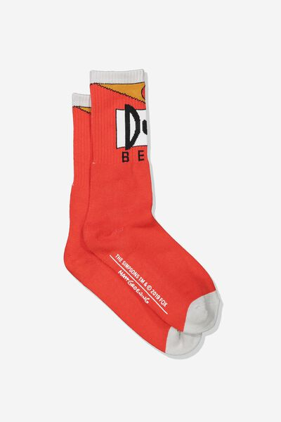 Single Pack Active Socks, LC FOX RED/DUFF BEER