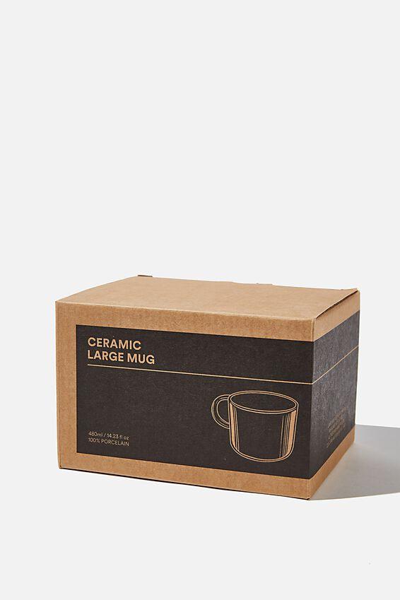 Ceramic Large Mug, NATURAL WHITE