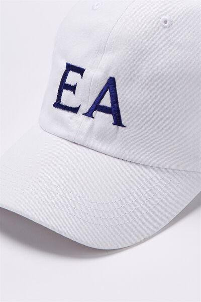 Personalised Classic Cap, WHITE