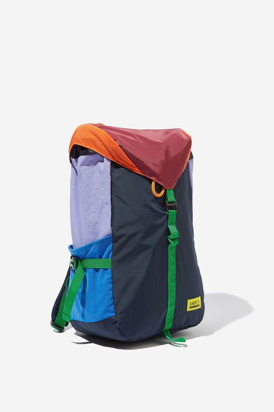 Explore Rucksack, GREY RED LILAC