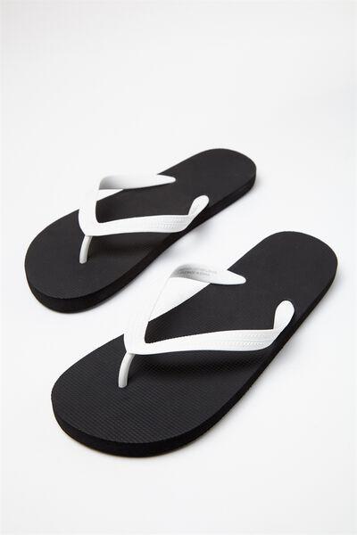 Bondi Flip Flop, BLACK/WHITE