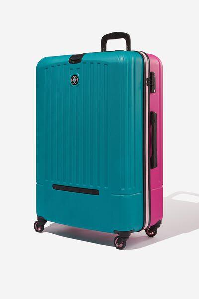 Lrg 28Inch Hard Suitcase, MAGENTAL/TEAL