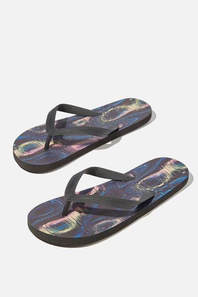 Bondi Flip Flop, BLACK/GLITCH SONAR