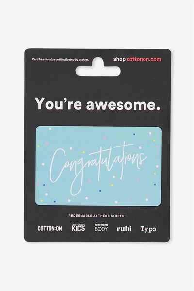 Cotton On & Co $20 Gift Card, Congratulations
