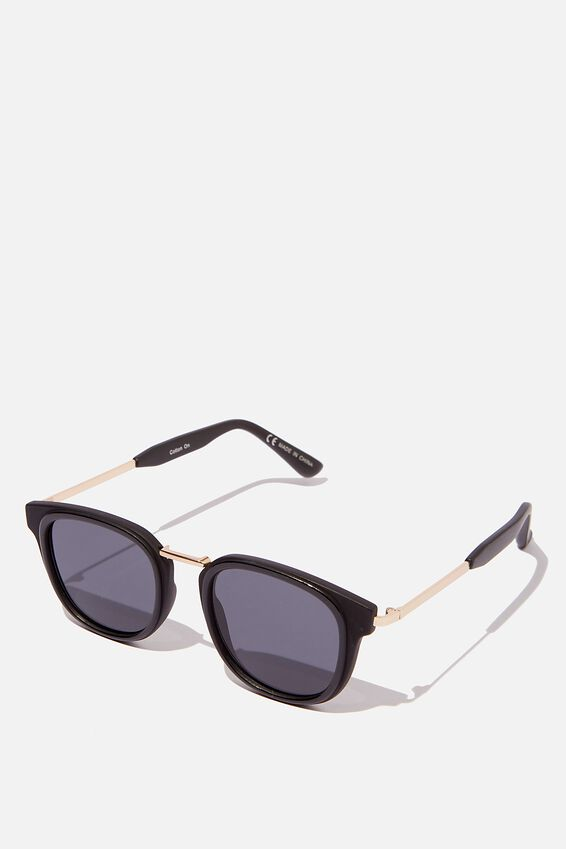 Highton Sunglasses, BLACK/GOLD/SMOKE