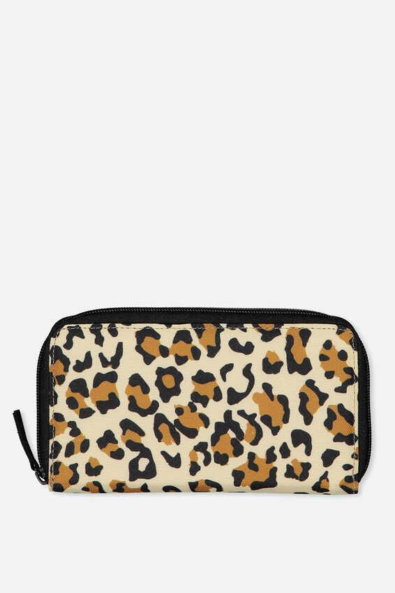 Large Zip Wallet, LEOPARD