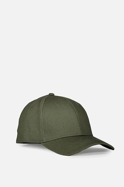 Outfield Fitted Cap, KHAKI/BLANK