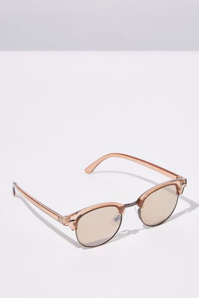 Smooth Operator Sunglasses, CRYSTAL/GUNMETAL/BRN