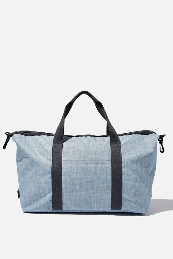 Transit Duffle Bag, CHAMBRAY CROSSHATCH/NAVY