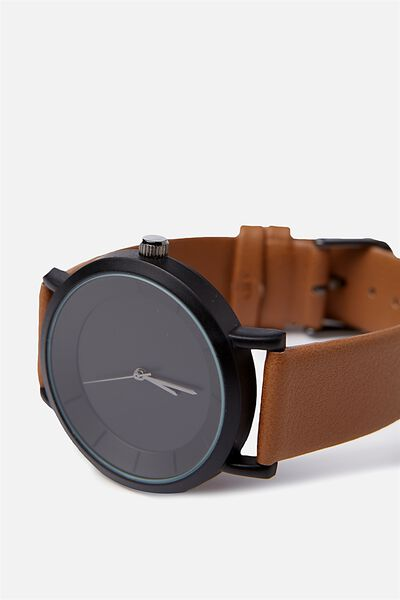 Cambridge Watch, BLACK/TAN