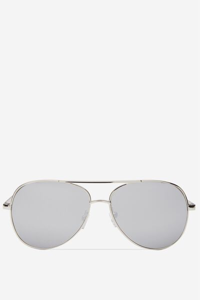 Simpson Sunglasses, SILVER/CRYSTAL