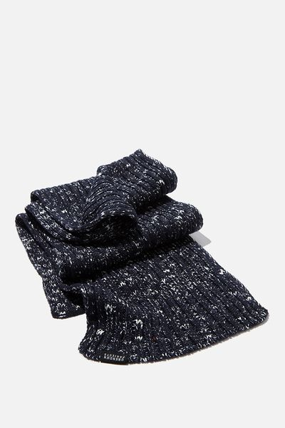 Chill Out Scarf, NAVY/WHITE FLECK