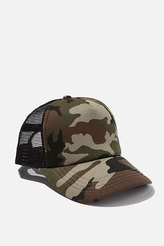 Wicked Print Trucker, CAMO