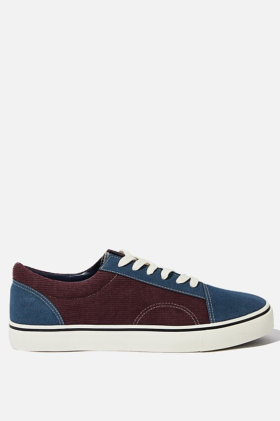 Axell Skate Shoe, BURGUNDY/NAVY/CORDUROY
