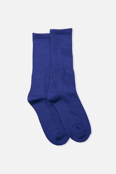 Single Pack Active Socks, CELESTIAL BLUE