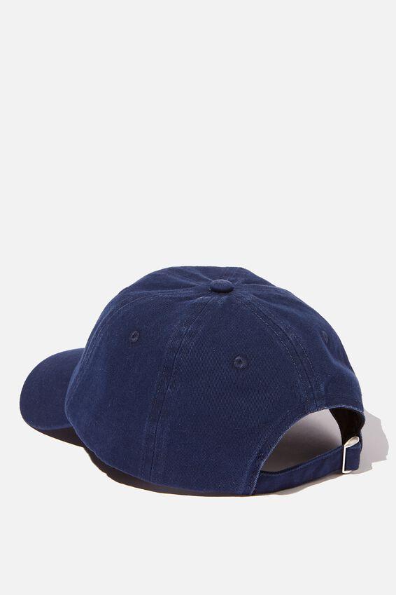 Strap Back Dad Hat, NAVY/RED/HUAT