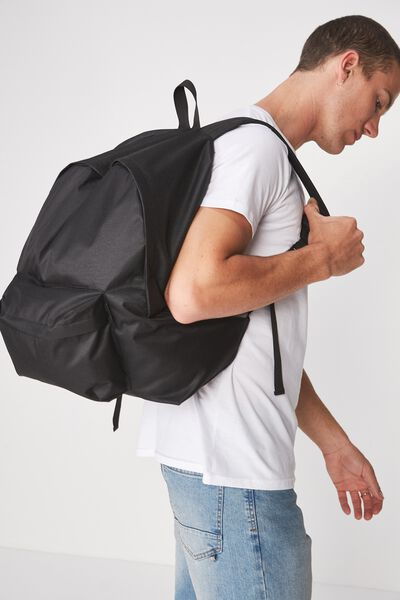 Oversized Backpack, BLACK