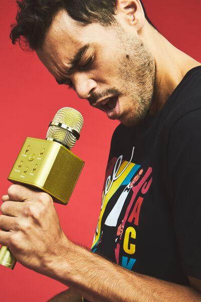 Microphone Speaker, GOLD