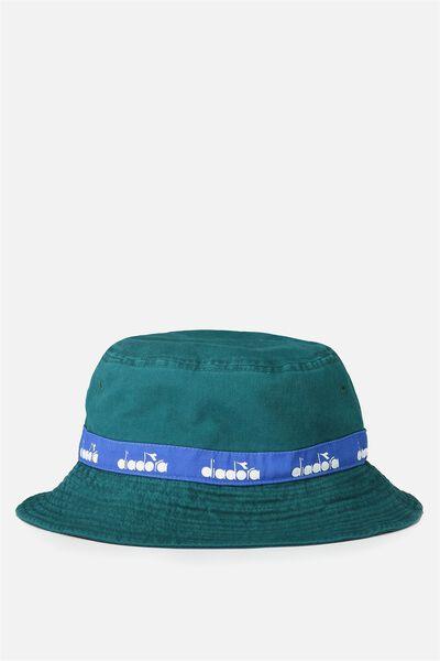 Diadora Bucket Hat, DEEP TEAL/DIADORA TAPE