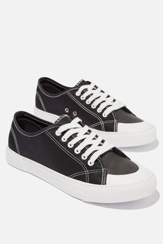 Lacca Retro Trainer, BLACK/WHITE