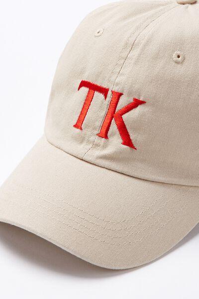 Personalised Classic Cap, TAUPE