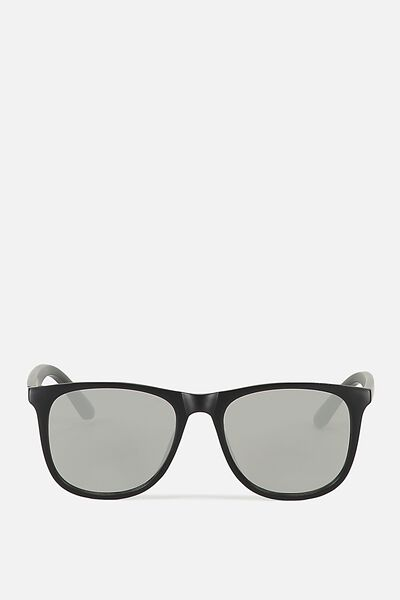Omaha Sunnies, BLACK/SMOKE SILVER