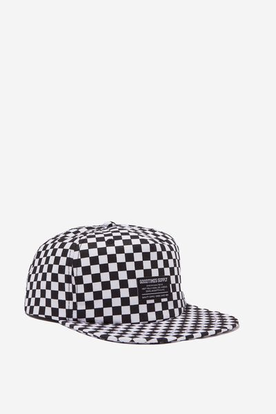Art Snapback, BLACK WHITE CHECK/GOOD TIMES SUPPLY