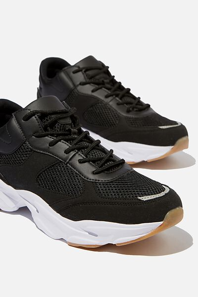 Dimitri Sneaker Boot, BLACK/WHITE