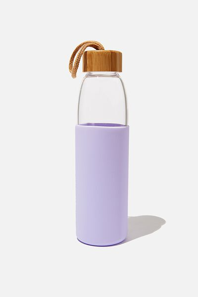 Reusable Glass Drink Bottle 550Ml, LILAC