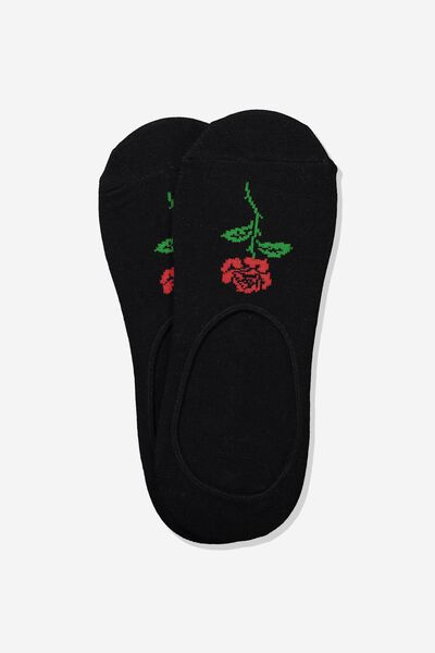 Invisible Socks 2 Pack, BLACK/PARLOUR