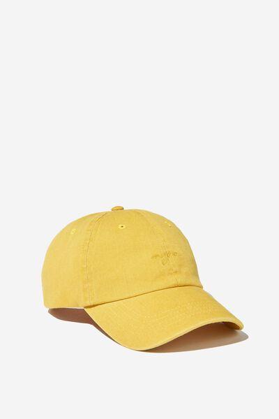 Strap Back Dad Hat, GOLDEN SUN/NYC SCRIPT