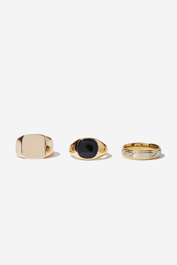 Rings 3 Pack, GOLD 1
