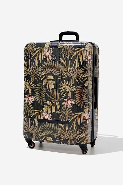 Lrg 28Inch Hard Suitcase, LOTUS LEAVES