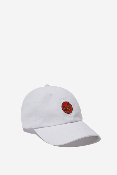 Strap Back Dad Hat, LC FOX/WHITE DUFF