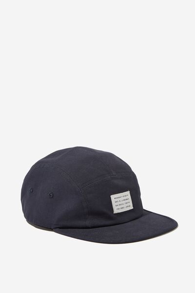 5 Panel Cap, NAVY CANVAS/WEEKDAY STUDIO