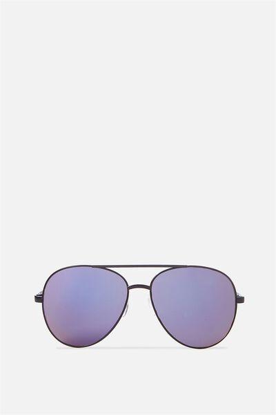 Simpson Sunglasses, BLACK SHINY/PRYNNE BLUE