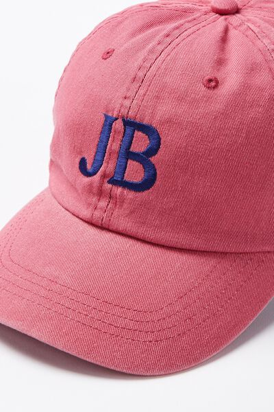 Personalised Classic Cap, BERRY