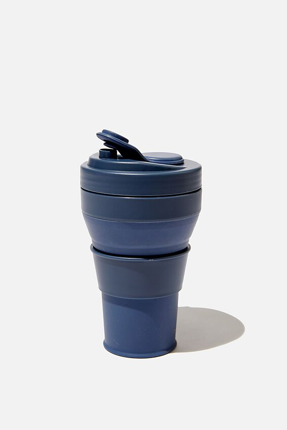 Collapsible Coffee Cup, NAVY