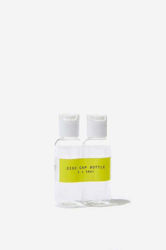 Disc Cap Bottle 2Pk, CLEAR/50ML