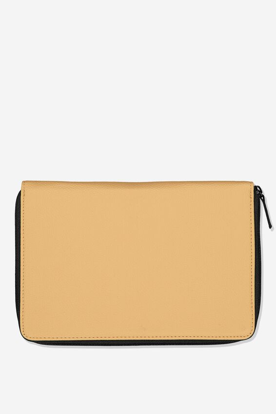Family Travel Wallet, CAMEL PU