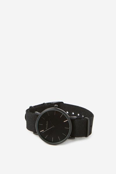 Columbia Watch, WOVEN BLACK/MATTE BLACK